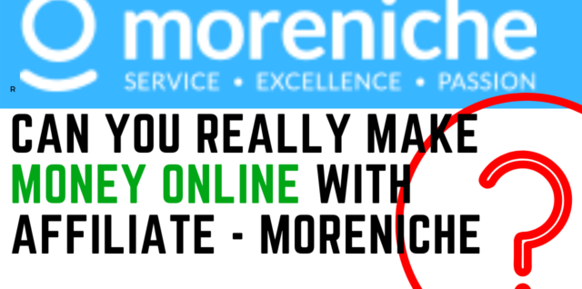 Make Money Online With Affiliate MoreNiche